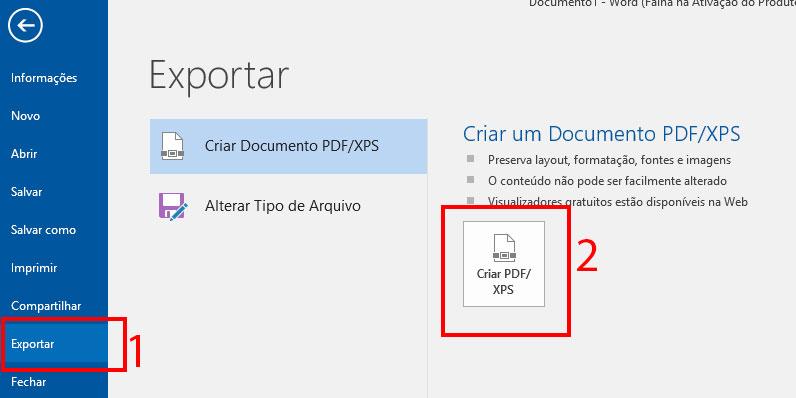 como imprimir pdf pelo Microsoft Word